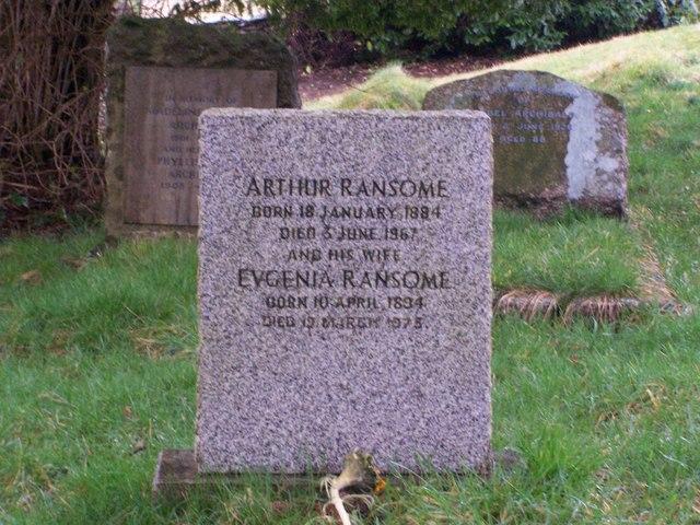 Arthur Ransome's Grave, Rusland Church.