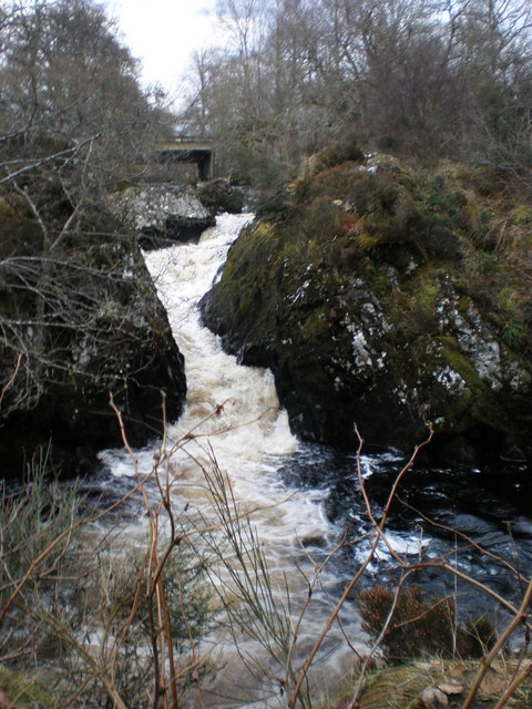 River Farigaig falls at Torness