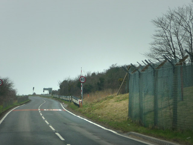 James Callaghan Drive just west of Fort Southwick