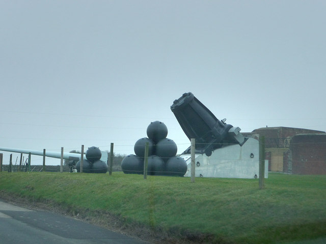 Artillery display outside Fort Nelson
