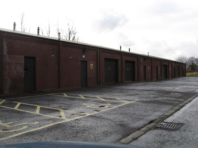 Industrial lock-up units at Low Valleyfield