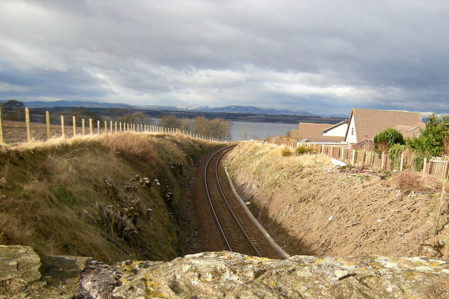 Dundee / Aberdeen Railway, at Ferryden, looking north