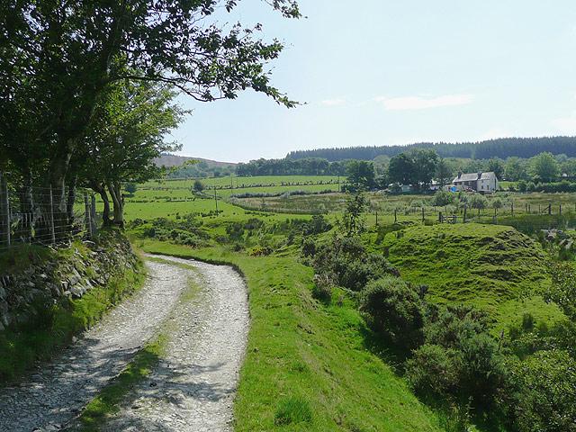 Bridleway by Nant Cou near Tregaron, Ceredigion