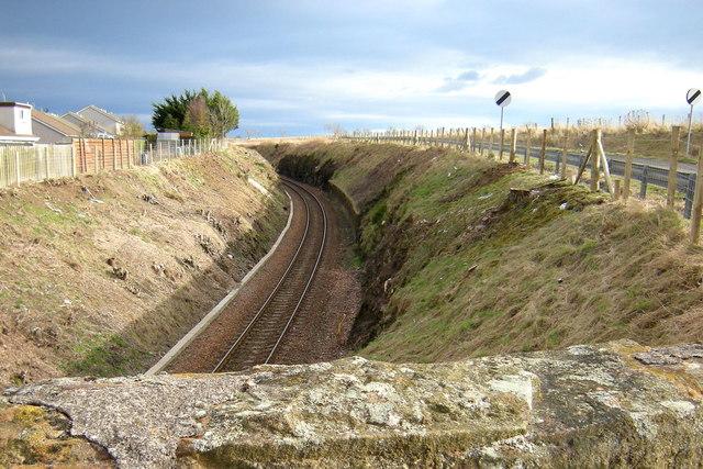 Aberdeen / Dundee Railway at Ferryden