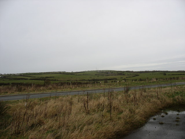 View north-eastwards across the Cochwillan road