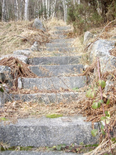 Upper steps from the water intake station.
