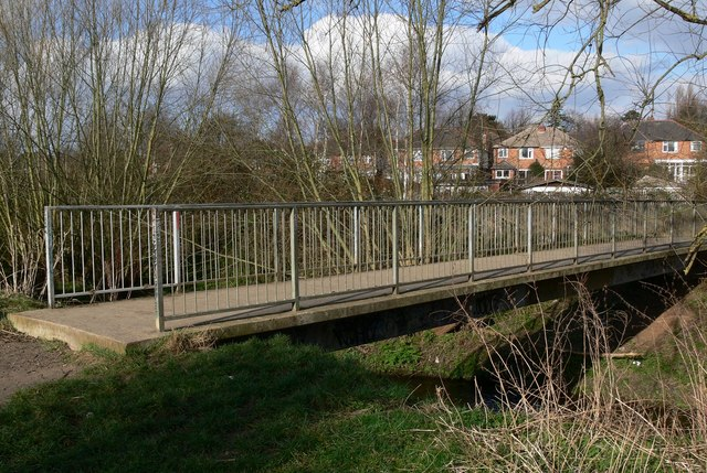 Footbridge across Saffron Brook
