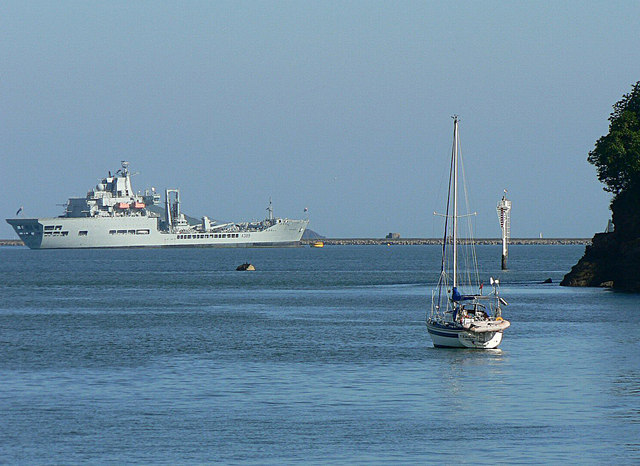 RFA Wave Knight  (A389) moored up in Plymouth Sound