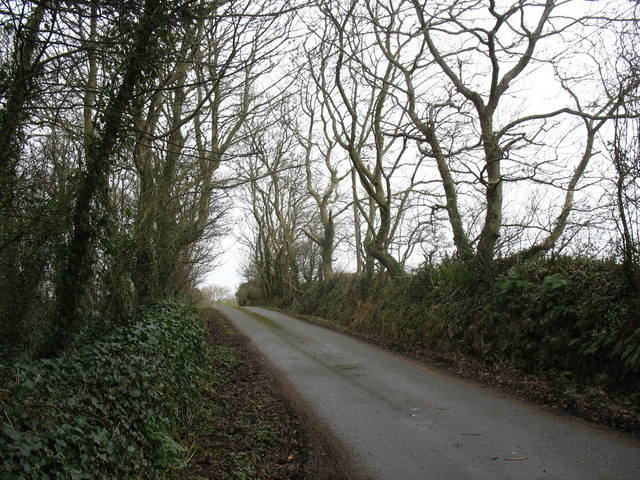Minor road leading eventually to the B5111