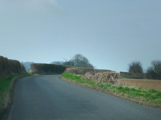Lane heading towards Dean Hill