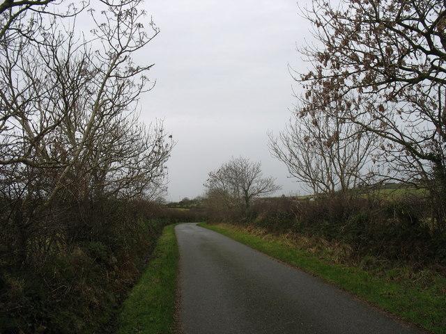 The backroad between Penygraigwen and Llaneuddog west of Deri-isaf