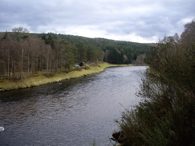 'Green Spot' fishing beat on the River Dee