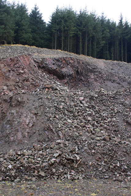 Quarry beside Southern Upland Way