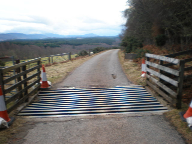 Cattle Grid on Torness to Errogie Road near Oldtown