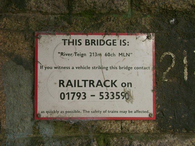 Under a railway bridge, Newton Abbot