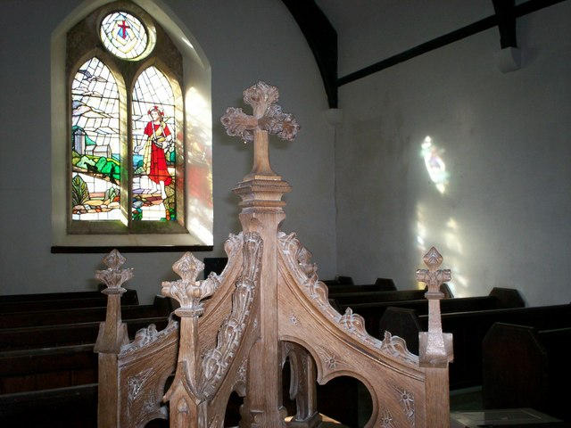 Amroth Church - window and font cover