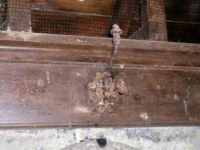 Amroth Church - old coat hooks in porch