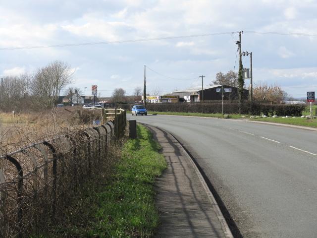 A54 leaving Holmes Chapel