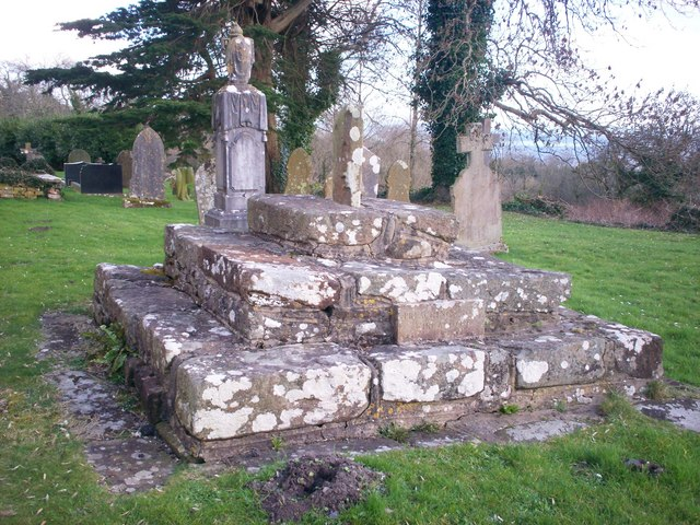Amroth Churchyard  - base of old Preaching Cross