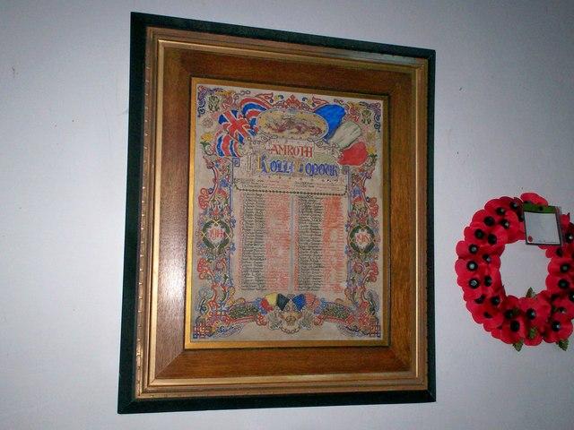 Amroth Church - War Memorial