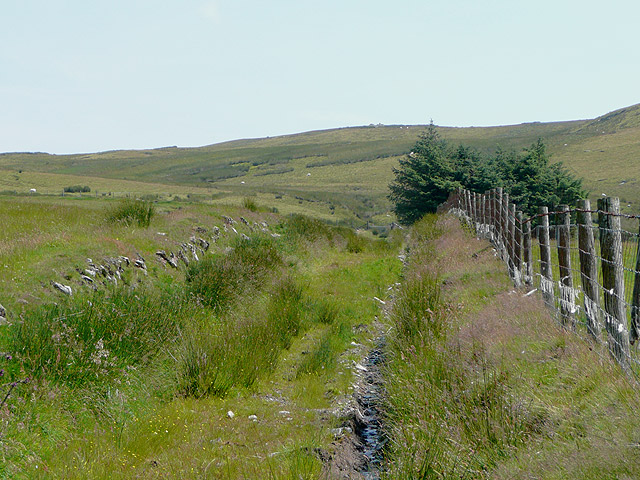 Bridleway to the open hill, south-east of Tregaron