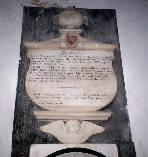 Amroth Church - Memorial - detail