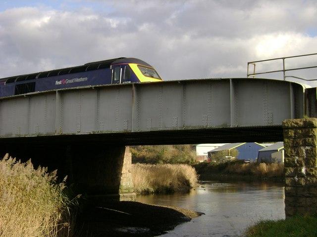 Train crossing River Lemon