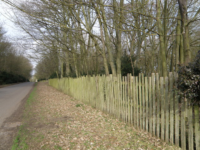 The fence around Lilford Park