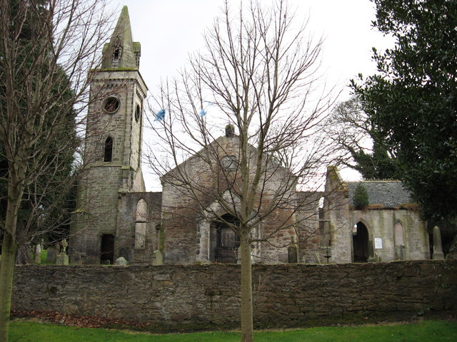 The ruins of Carriden old church