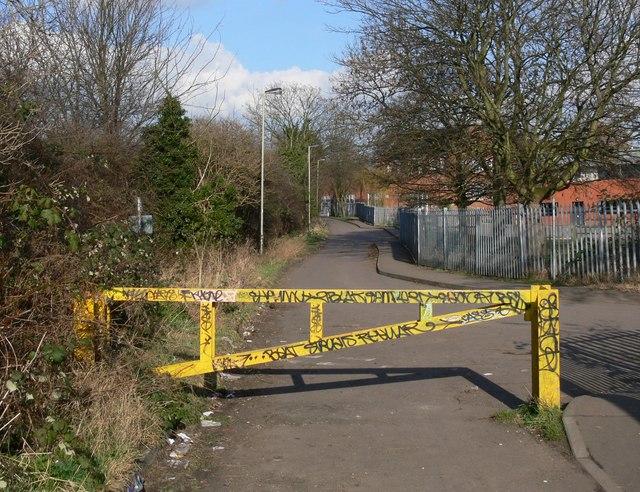 Footpath close to Sir Jonathan North Community College