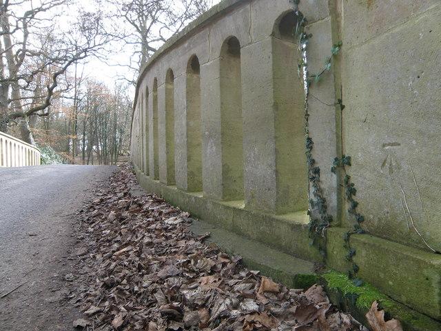 Bench Mark on the Concrete Bridge
