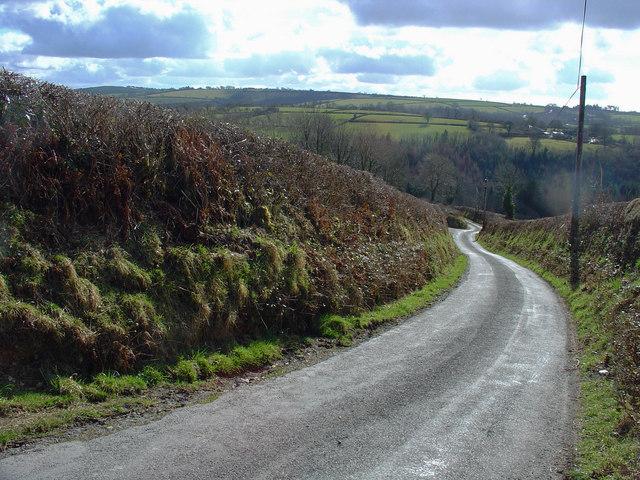 Hill leading to Cynwyl Elfed