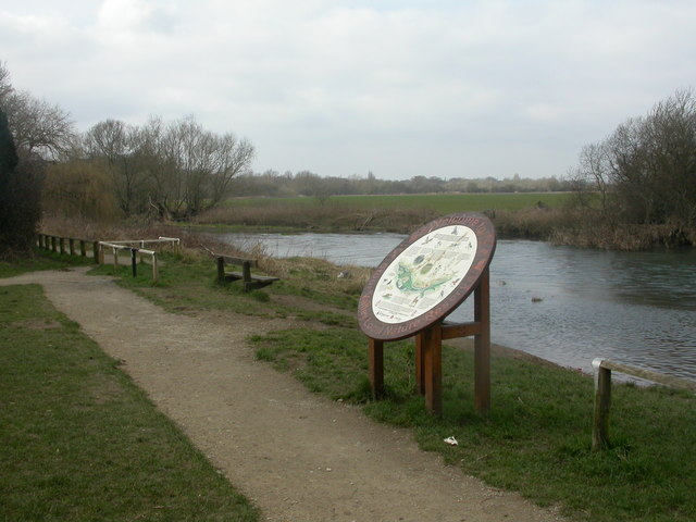 Stour Valley Nature Reserve, board