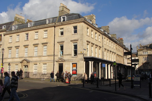 South-east corner of Queen Square, and junction with Wood Street