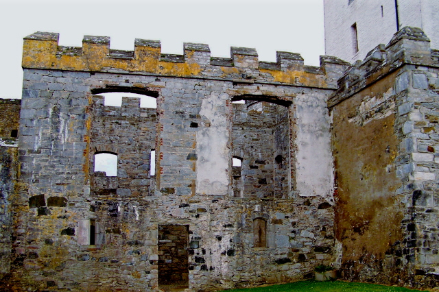 Doe Castle - part of NW side of castle