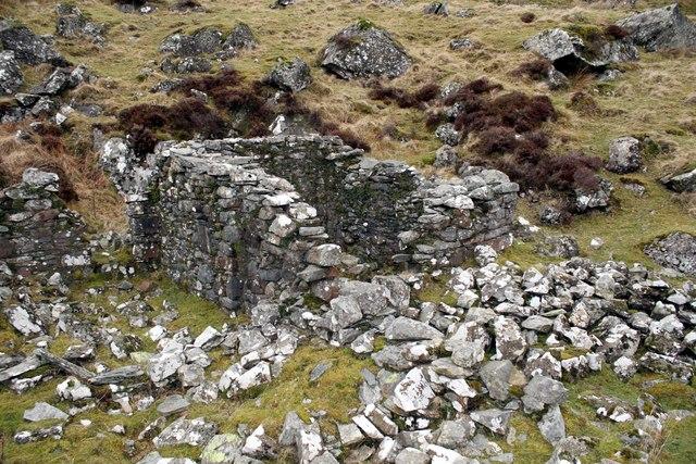 Ruined Building near Moel Dyrnogydd