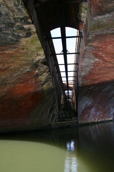 Pipe between the bridge
