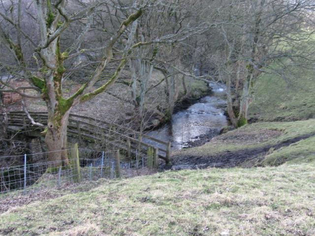 Footbridge over the River Noe