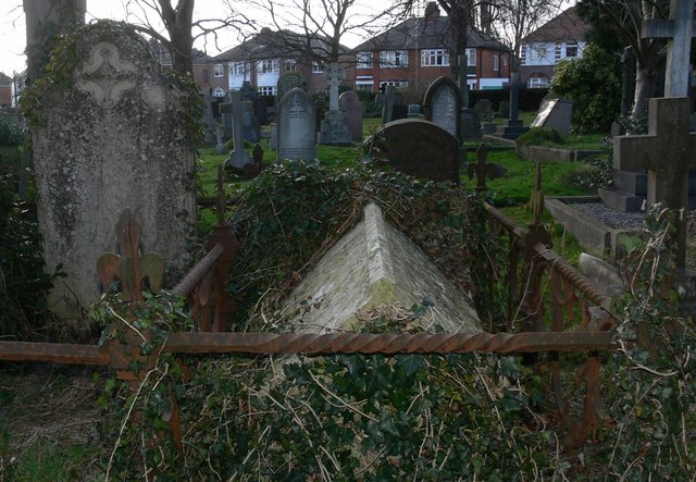 Ancient gravestones in St. Mary Magdalene Churchyard