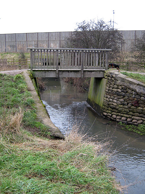 Small Footbridge over Golden Brook