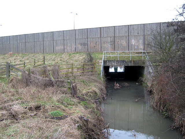 The Golden Brook Culvert Under The M1