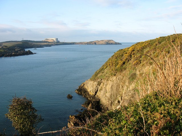 View northwards along the cliff top towards Trwyn y Parc