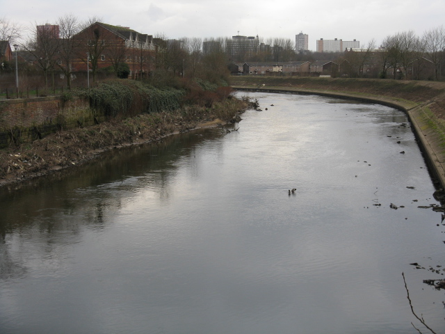 Lower Broughton - River Irwell, Looking Upstream