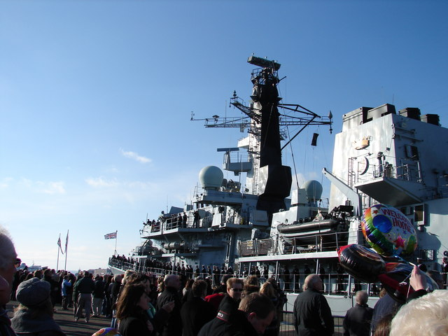 HMS Lancaster at South Railway Jetty