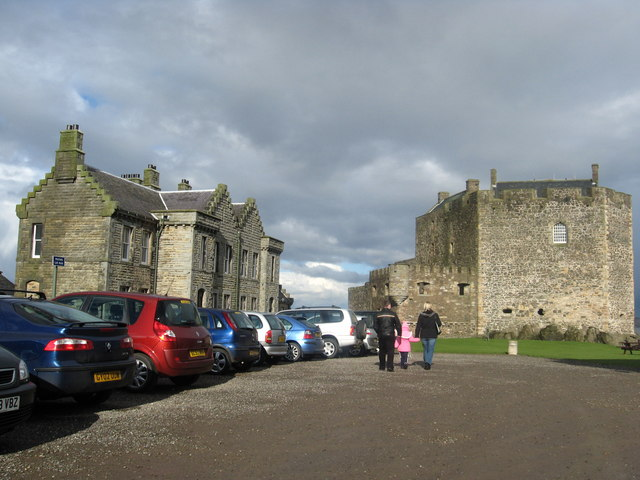 The car park at Blackness Castle