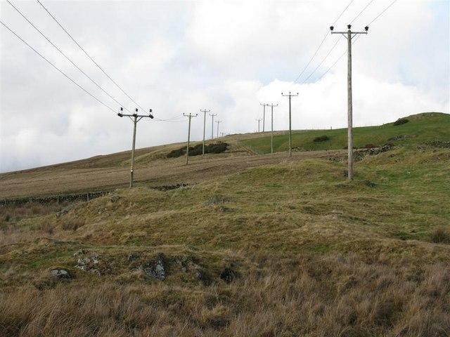 Power lines near Stewarton