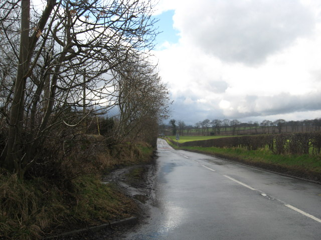 The B903 heading through the West Lothian countryside