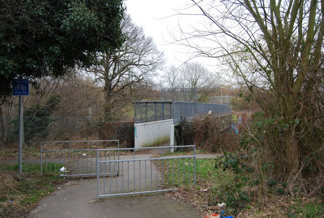 Footbridge across the railway line