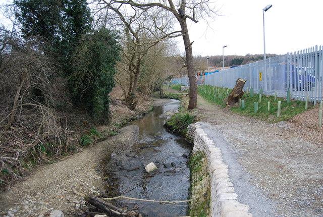 Unnamed stream, North Farm Estate