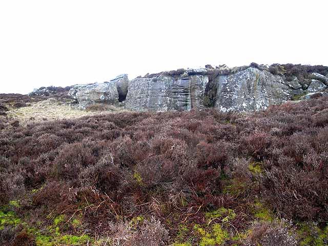 Rock outcrop on Long Crag